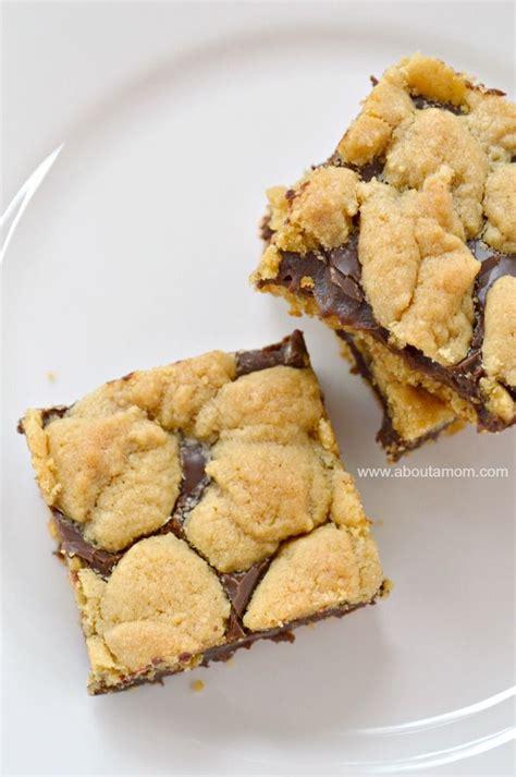 chocolate peanut butter cake mix cookie bars recipe
