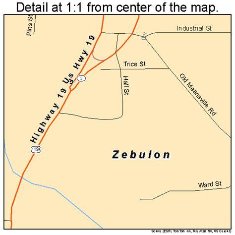 Zebulon Georgia Street Map 1385128