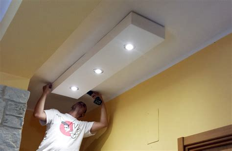 Illuminazione Controsoffitto In Cartongesso by Controsoffitto In Cartongesso Con Led Eu96 Pineglen