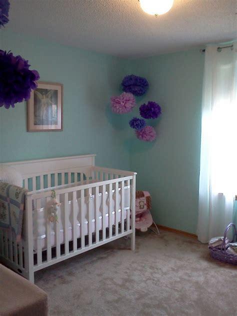 aqua  purple nursery baby girl nursery purple purple