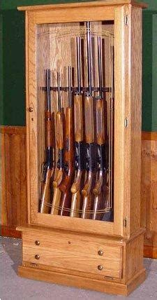 oak gun cabinet plans  woodwork plans   diy