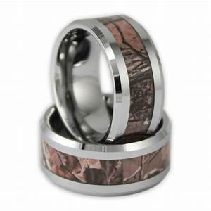 10mm wide men39s tree camo tungsten ring camouflage wedding for Camo mens wedding rings