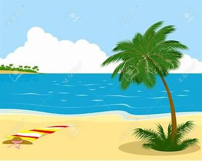 Shore Sea Illustration Clipart Palm Tree Vector