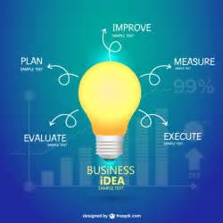 business idea creative infography vector free