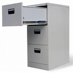 Armoire A Tiroir : acheter armoire de bureau en m tal 3 tiroirs gris pas ~ Edinachiropracticcenter.com Idées de Décoration