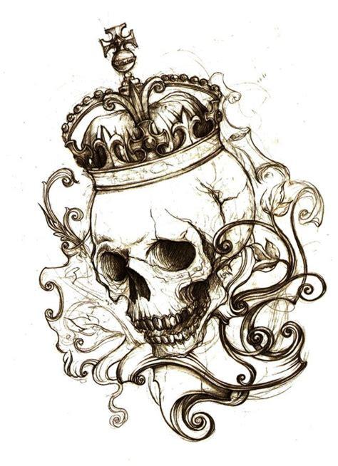 Skull With Crown Tattoo Designs Wwwpixsharkcom