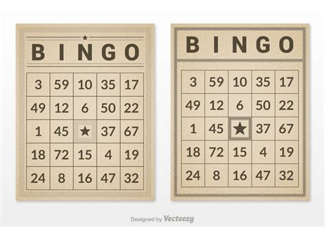 retro bingo card set vector   vector