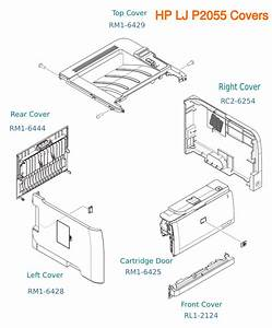 Hp Laserjet P2055 Case Parts