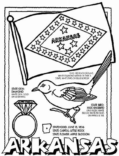 Arkansas Coloring Pages Crayola States Sheets State