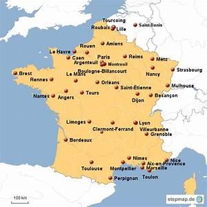 Schöne Städte In Frankreich : landkarte von frankreich mit st dten kleve landkarte ~ Buech-reservation.com Haus und Dekorationen