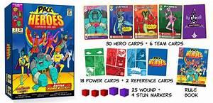 Pack of Heroes: A Vintage Comic Superhero Card Game ...