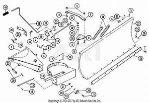 Gravely 38737 54 U0026quot  Snow Blade 7173h Tractor Parts Diagram For Dozer Blade