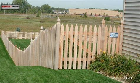 French Gothic Wood Picket Fences