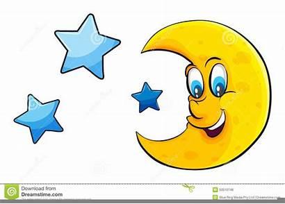 Moon Stars Clipart Reaching Illustration Clip Clker