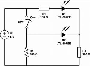 how do i design a circuit for a bi color led to display With wiring up leds
