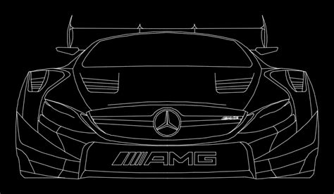 dtm mercedes  amg coupe  dwg elevation  autocad