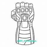 Avengers Endgame Thanos Tony Cartoon Iron Heroes Mans Gauntlet Nano Coloring Clipart sketch template