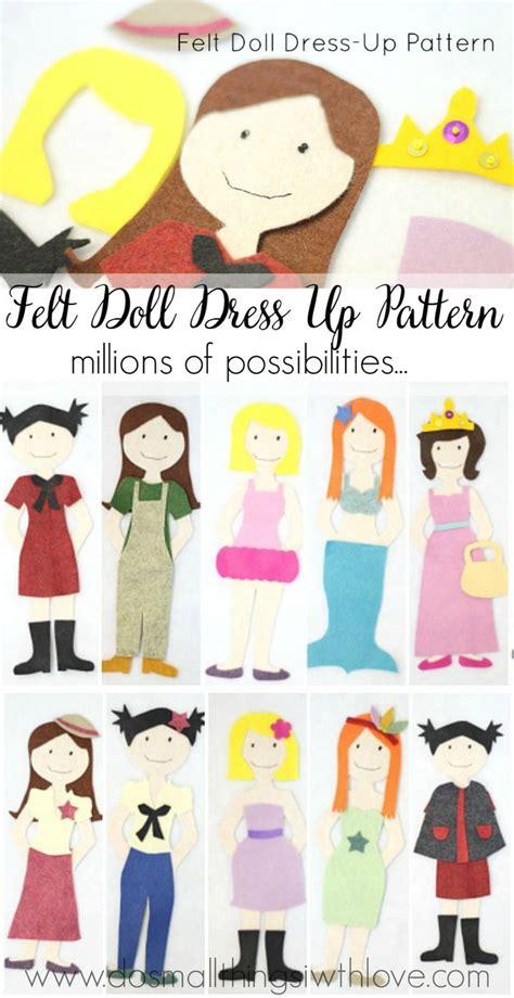 Felt Dress Up Doll Template by 25 Best Ideas About Felt Doll Patterns On