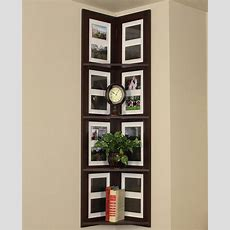 Boring Walls? Why Not Gather Wall Frames On The Corner