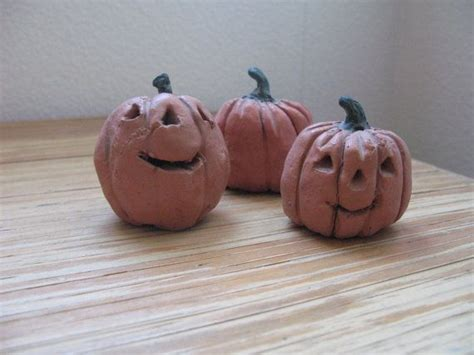 sale clay pumpkin o lanterns fall decorations on etsy 14 40 clay