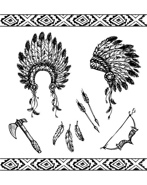 native american symbols native american adult coloring pages