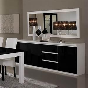 emejing salle a manger noir et blanc pas cher contemporary With salle À manger contemporaine avec chaise salle a manger blanc laqué