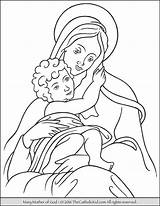 Coloring Mary God Mother Pages Catholic Jesus Lady Drawing Rosary Holy Printables Printable Blessed Saint Mom Thecatholickid Mothers Teresa Virgin sketch template