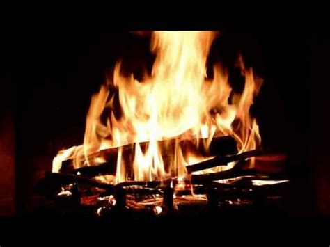 4 hours fireplace in hd with real crackling sound