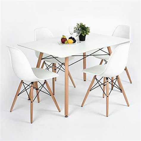 furniturer fauteuil table de salle 224 manger moderne design r 233 tro carr 233 bureau avec pieds en bois