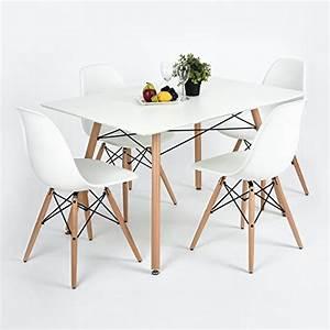furniturer fauteuil table de salle a manger moderne design With salle À manger contemporaine avec fauteuil en bois