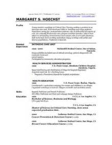 Exles Of Profiles On Resumes by Personal Profile Format In Resume Resume Sles