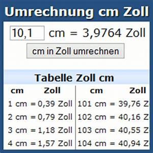 42zoll In Cm : umrechnung cm zoll inch online rechner und tabelle ~ Markanthonyermac.com Haus und Dekorationen