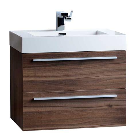single bathroom vanity set  walnut tn  wn