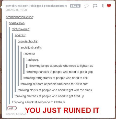 joke ruiners tumblr