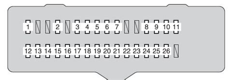 2011 Scion Tc Fuse Box by Scion Tc 2011 2013 Fuse Box Diagram Auto Genius