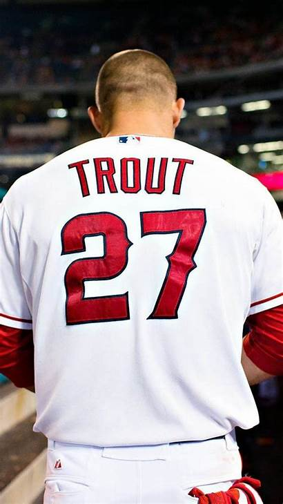 Trout Mike Angels Anaheim Angeles Los Wallpapers