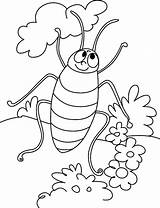 Coloring Cockroach Pages Cartoon Printable Bestcoloringpagesforkids sketch template