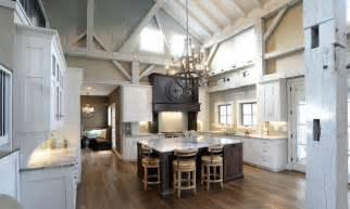 white interiors homes interior white cabinet on the wooden floor pole barn houses interior with warm chandelier can