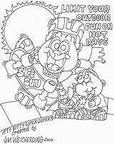 Coloring Safety Pages Sun Safe Outdoor Popular Coloringhome sketch template