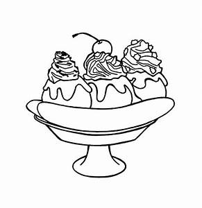 Banana Split for Dessert Coloring Pages | Best Place to Color