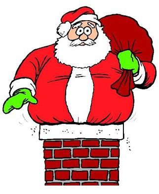 Image result for picture of santa stuck down a chimney