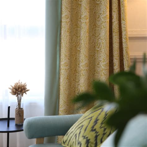 Bedroom With Mustard Yellow Curtains