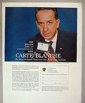 Citicorp purchased carte blanche corporation in 1978. Carte Blanche Credit Card PRINT AD - 1959 ~~ Caleb D ...