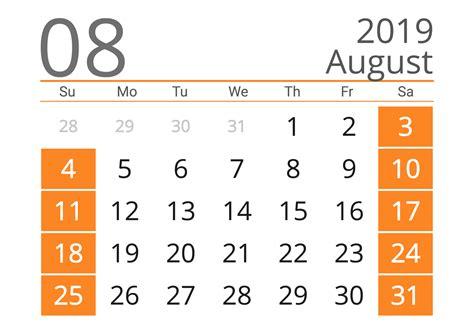 august  calendar templates