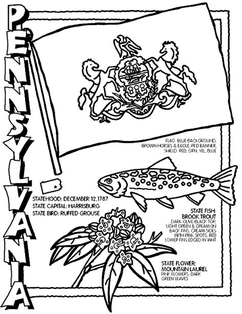 coloring activity pages pennsylvania coloring page