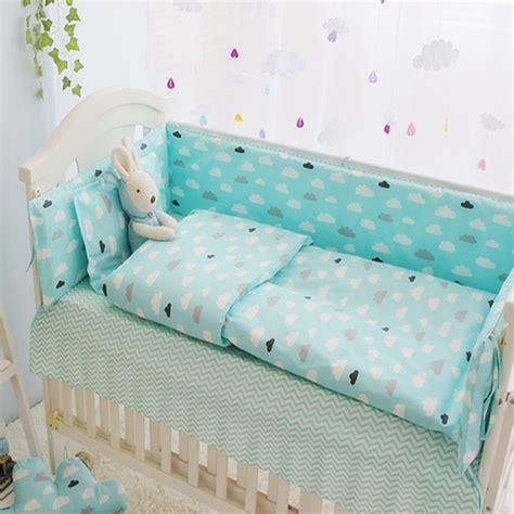 crib sheet sets green clouds 4 10 pcs pcs boys baby bedding set