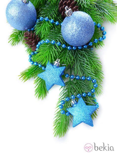 193 rbol de navidad decorado en color azul ideas para