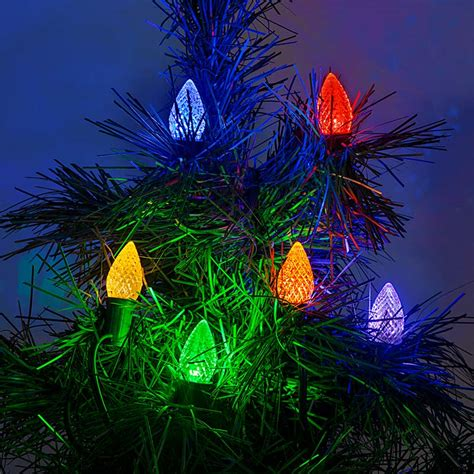 c7 led bulbs diamond faceted replacement christmas light
