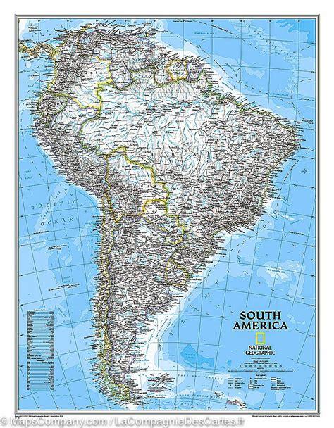 carte murale plastifi 233 e grand format am 233 rique du sud national geographic la compagnie des