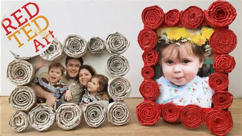 diy newspaper roll frames gift  fathers day  mother
